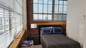 Tons of windows, exposed brick